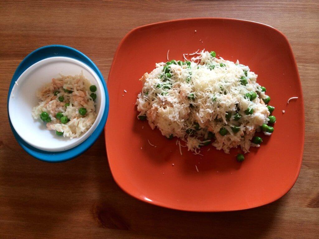 BLW - Lososové rizoto s hráškem