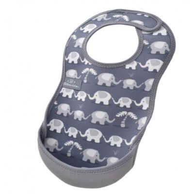 Neoprénový bryndák s kapsičkou Bibetta - sloni